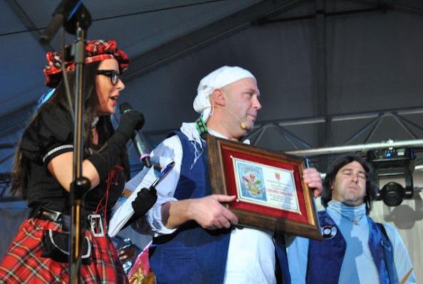 José Manuel Cornejo. CHico Cornejo, pregonero del Carnaval de Arcos  2012