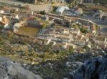 Vista desde la montaña que tuvieron que bajar los participantes de Villaluenga del Rosario. Foto: Francisco Pozo