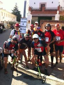 Algunos participantes a su paso por Benaoján.Fotos: Miguel Angel pozo Morales