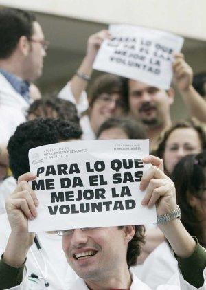 Imagen de archivo de una protesta en el Puerta del Mar.  LA VOZ