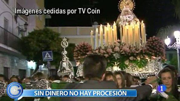 Nuestra Señora de la Esperanza de Coín. Imágenes cedidas por TV Coín