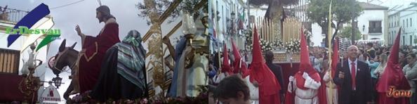 """Hermandad de Nuestro Padre Jesús de La Paz y La Caridad, conocida popularmente como """"La borriquita"""". Foto Jenu"""