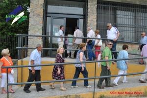 Momento en el que nuestros visitantes de Antequera entraban en el Museo Arqueólogico Municipal. ErDesvan.com