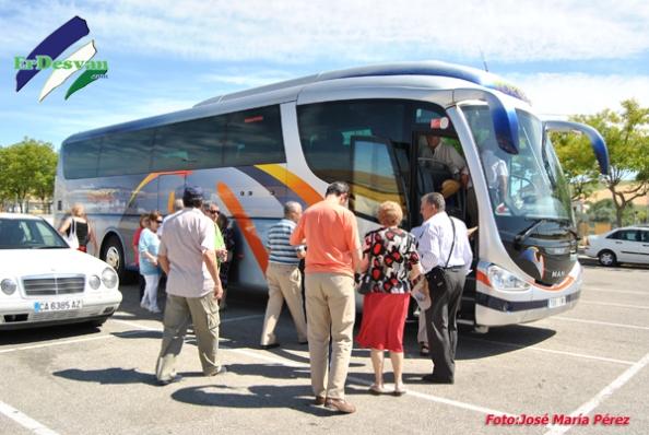 Momento en el que los Usuarios de Huertos de Ocio de Antequera partían de regreso a su localidad satisfechos por la visita a Villamartín. ErDesvan.com
