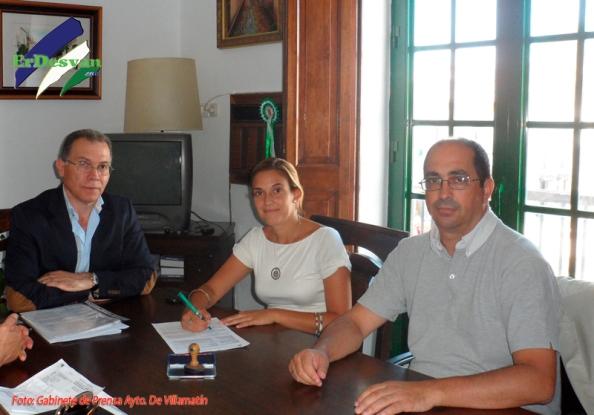 Recepción en el Ayto. De Villamartín el pasado viernes. Foto cedida por el Gabinete de Prensa Ayto. Villamartín