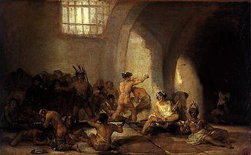 Francisco de Goya. Casa de locos. Foto: WIkipedia