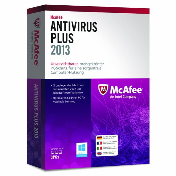 McAfee ANTIVIRUS PLUS 2013 3U ML