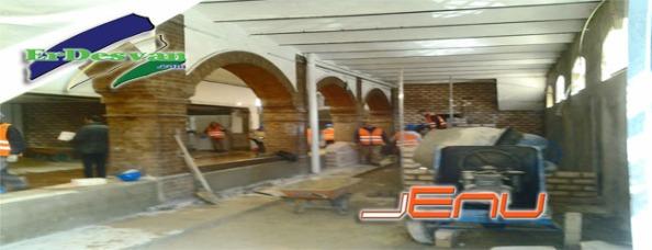 Asi de avanzadas van las obras de la Plaza de Abastos de Villamartìn.Foto Jenu