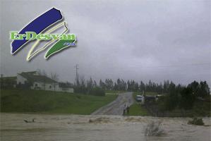 El arroyo de Alberite desbordado. Foto cedida por Juan Luis Morales