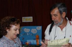 Sebastiàn Jarava, Coordinador en la maetria, junto a la Directora del Centro. Foto Jenu