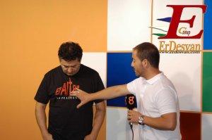 El Director de El ALtar durante la entrevista que le realizò esta mañana Josè Antonio Velasco, de Canal 8. Foto Jenu